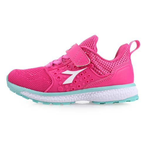 (童) DIADORA 男女中慢跑鞋-路跑 慢跑 鞋 桃紅水藍