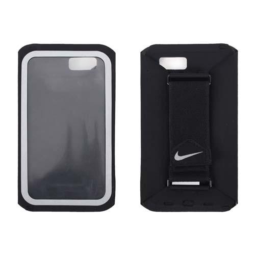 NIKE 手持臂包-慢跑 路跑 手機包 4.7吋螢幕適用 黑銀 F