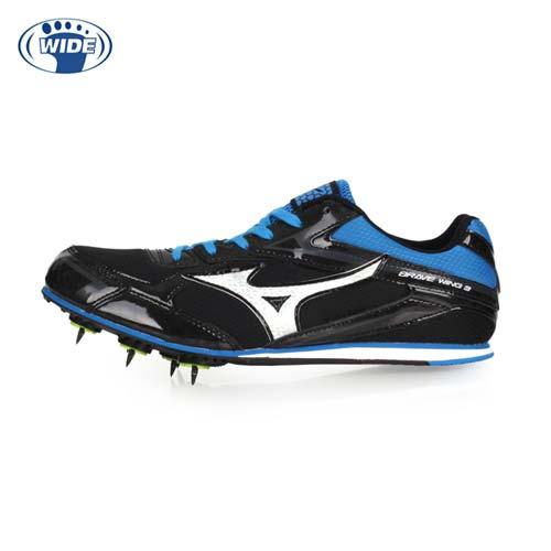 (男女) MIZUNO BRAVEWING 3 田徑釘鞋-WIDE-寬楦 競賽 美津濃 黑藍銀