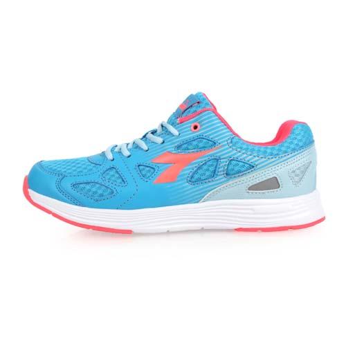 (女) DIADORA 慢跑鞋-訓練 健身 路跑 反光 水藍粉橘