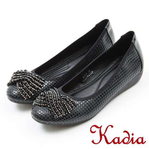 Kadia.典雅造型蝴蝶結鑽飾包鞋(8002-98黑色)