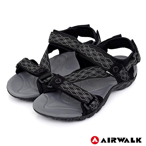 AIRWALK - 超Z領域運動涼鞋-黑灰