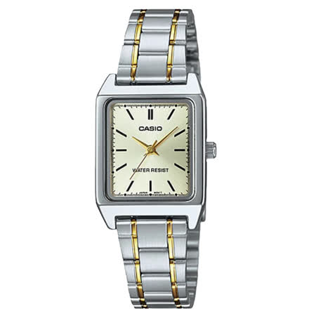 CASIO 卡西歐 經典指針女錶 不鏽鋼錶帶 金色錶面 防水 LTP-V007SG-9E