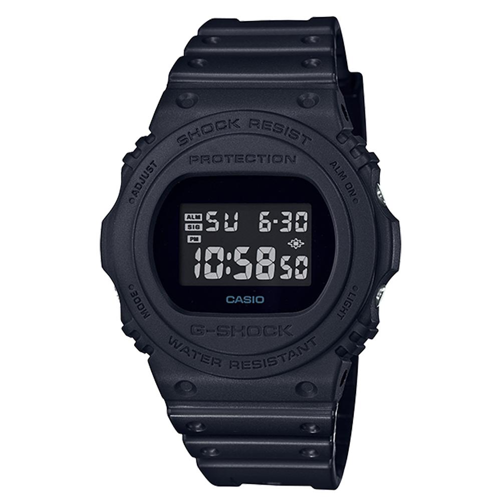 G-SHOCK 復刻經典電子男錶 樹脂錶帶 防水200米 碼錶功能 DW-5750E-1B
