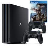 Sony PS4 Pro 1TB主機(黑)+手把黑+魔物獵人遊戲片
