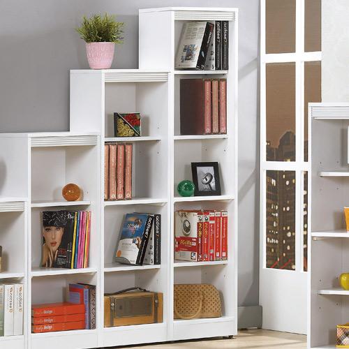 AS-娜拉白色開放5格書櫃-30x39x165cm