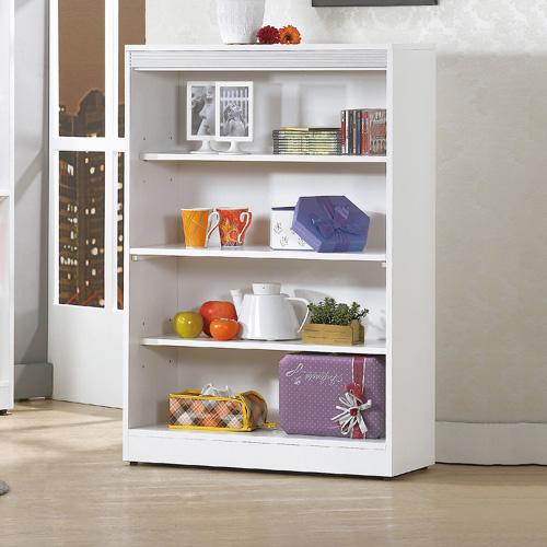 AS-娜拉白色開放書櫃-81x30x120cm