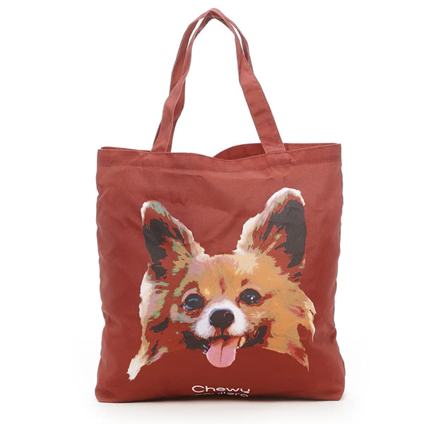 Kitson 名人愛犬系列購物袋(咖啡色)
