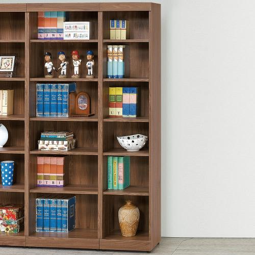 AS-豪斯登胡桃1.3x6開放書櫃-40x33x180cm