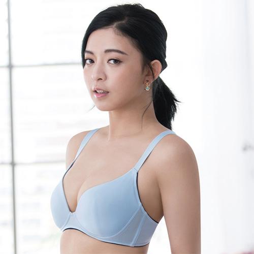 莎薇-時尚動起來 D 罩杯無鋼圈內衣(藍)