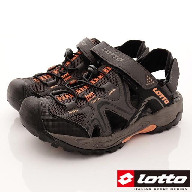 Lotto義大利運動鞋-運動休閒涼鞋-MS6103咖-24-29cm