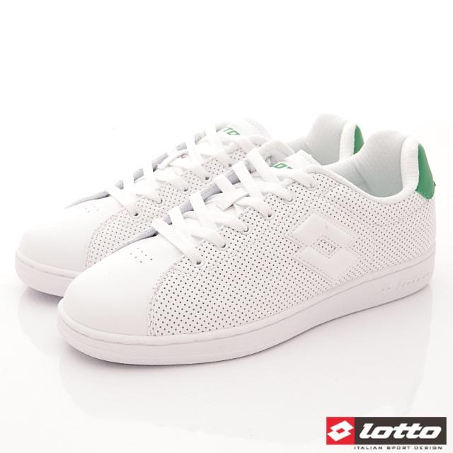 Lotto義大利運動鞋-潮流休閒款-MC6665白綠-25.5-29cm
