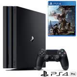 Sony PS4 Pro 1TB主機(黑)+魔物獵人遊戲片