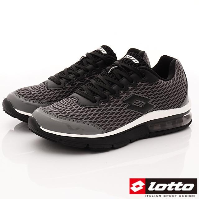 Lotto義大利運動鞋-蜂巢半氣墊運動款-MR6578灰-25.5-29cm