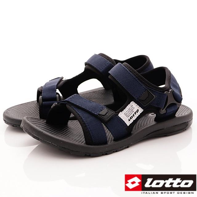 Lotto義大利運動鞋-休閒涼鞋款-MS6136藍-24-28cm