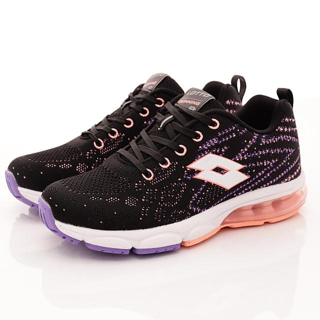 Lotto義大利運動鞋-氣墊避震鞋款-WR6592珊瑚桔-23-25cm