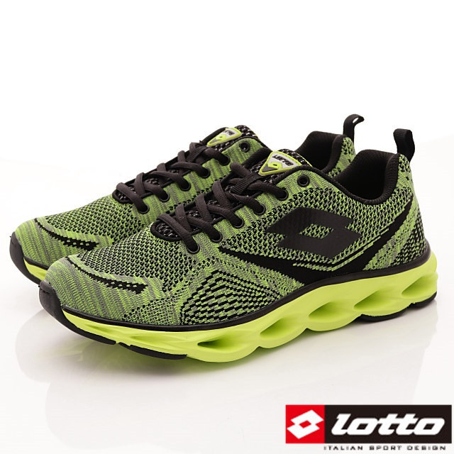 Lotto義大利運動鞋-風動避震運動款-MR6285綠-25.5-28cm
