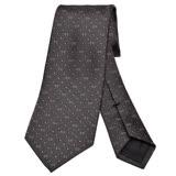 GUCCI 經典GG Guccissima緹花刺繡圖案絲質領帶(棕)