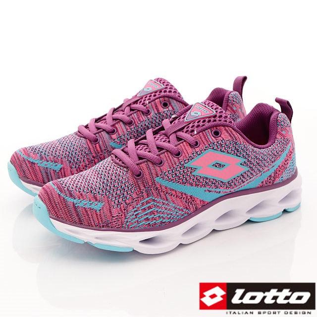 Lotto義大利運動鞋-潮流織網運動款-WR6297紫桃-23-25cm