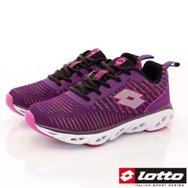 Lotto義大利運動鞋-反光風洞跑鞋-WR6257紫-23-25cm