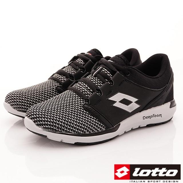 Lotto義大利運動鞋-潮流織網跑鞋-MR5990黑-25.5-29cm