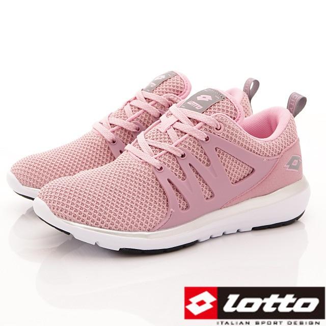 Lotto義大利運動鞋-飛織彈力潮流鞋-WR5933粉-23-25.5cm