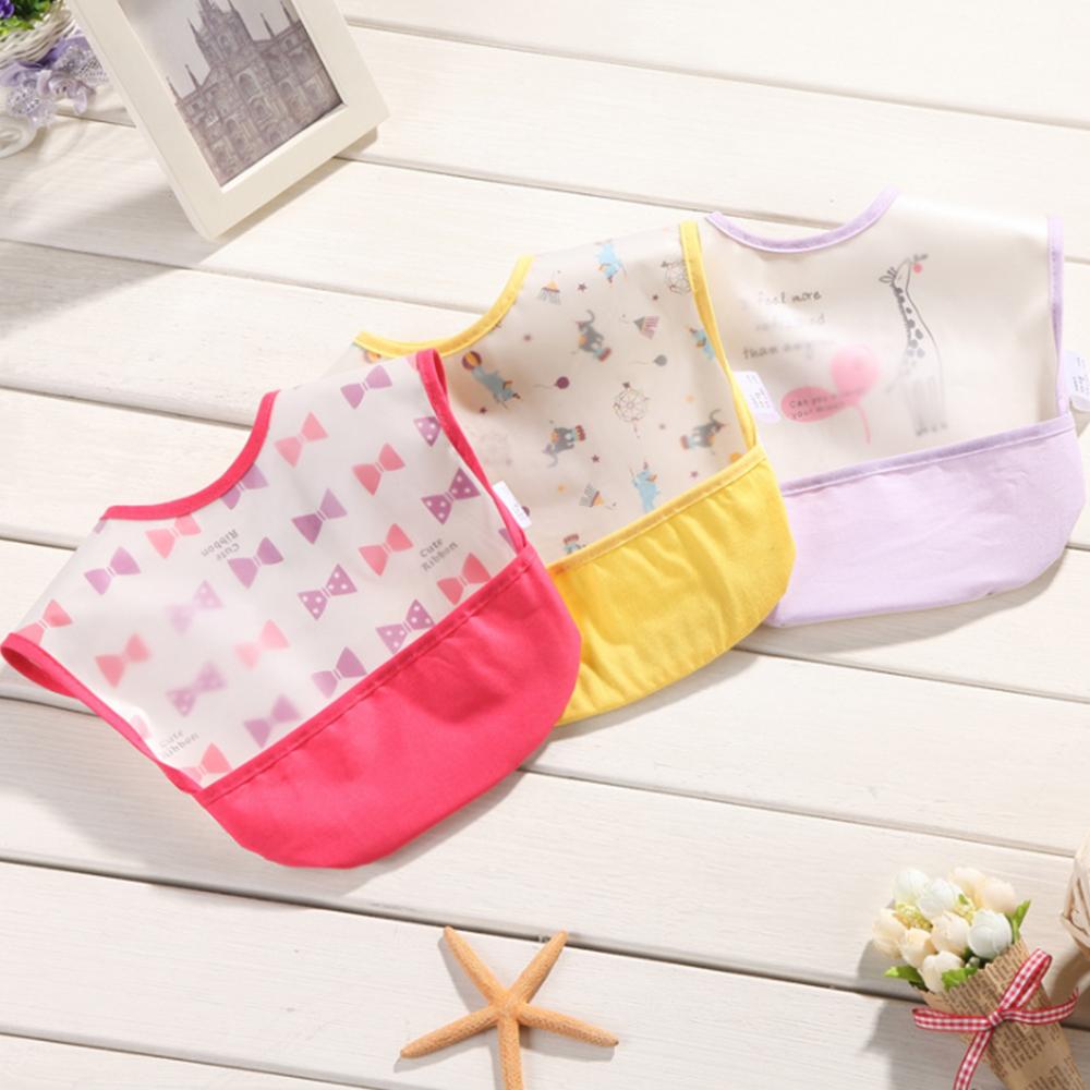 嬰兒口水巾 寶寶防水圍兜開口接飯飯兜【3件入】