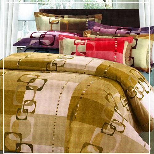 【幸福旅程】雙人三件式床包組(褐)