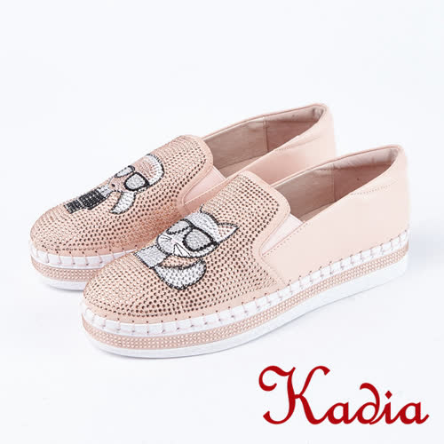 Kadia.懶人鞋-造型玩偶水鑽休閒鞋(8025-60粉)