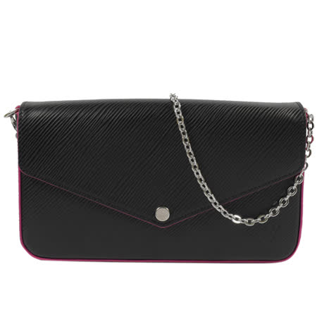 Louis Vuitton LV M64579 Pochette Felicie EPI水波紋皮革鍊條斜背小提包_現貨