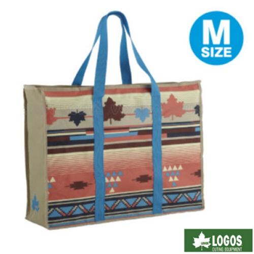 【日本 LOGOS】印地安收納提袋M.楓葉民族風.烤爐收納提袋.多功能手提包.裝備袋/73189903