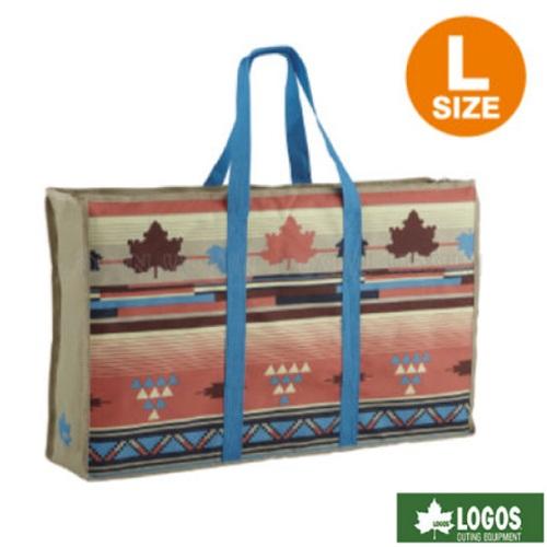 【日本 LOGOS】印地安收納提袋L.楓葉民族風.烤爐收納提袋.多功能手提包.裝備袋/73189904