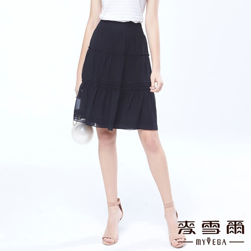 【麥雪爾】巴黎風情時尚感優雅八分裙