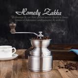 【Homely Zakka】極簡大容量儲粉槽304不鏽鋼手搖式咖啡磨豆機/研磨機 (附防跳豆矽膠擋片)