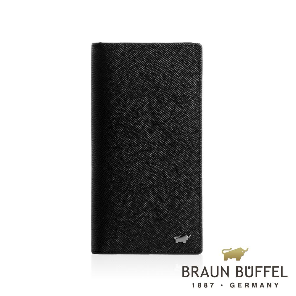 【BRAUN BUFFEL】德國小金牛 洛非諾III系列零錢長夾/BF314-301-BK