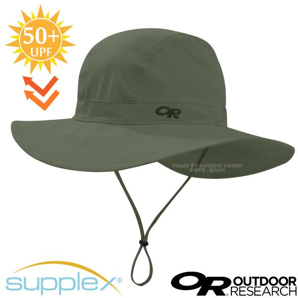 【美國 Outdoor Research】Ferrosi Wide-Brim Hat 抗UV防曬大盤帽子.圓盤帽(UPF50+.附帽繩)登山健行/自行車跑步帽/264398 軍綠