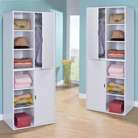 三格一門機能衣櫥 二入組