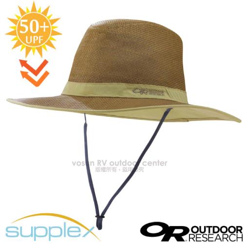 【美國 Outdoor Research】Papyrus Brim Sun Hat 抗UV防曬遮陽透氣草帽.圓盤帽(UPF50+)登山健行/自行車跑步帽/243408(80480)-0824 核桃棕