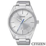 CITIZEN星辰 菁英時尚男性石英腕錶-白 BI1030-53A