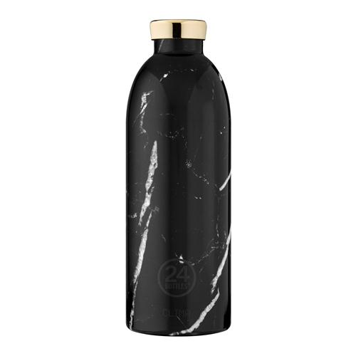義大利 24Bottles 不鏽鋼雙層保溫瓶 850ml - 黑雲石
