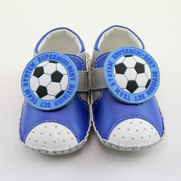 【愛的世界】LW足球寶寶鞋/學步鞋(藍色)-台灣製-