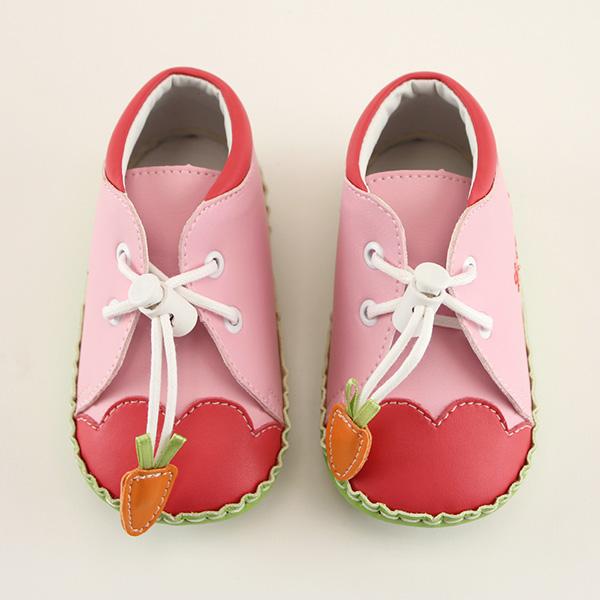 【愛的世界】LW紅蘿蔔高筒寶寶鞋/學步鞋(粉色)-台灣製-