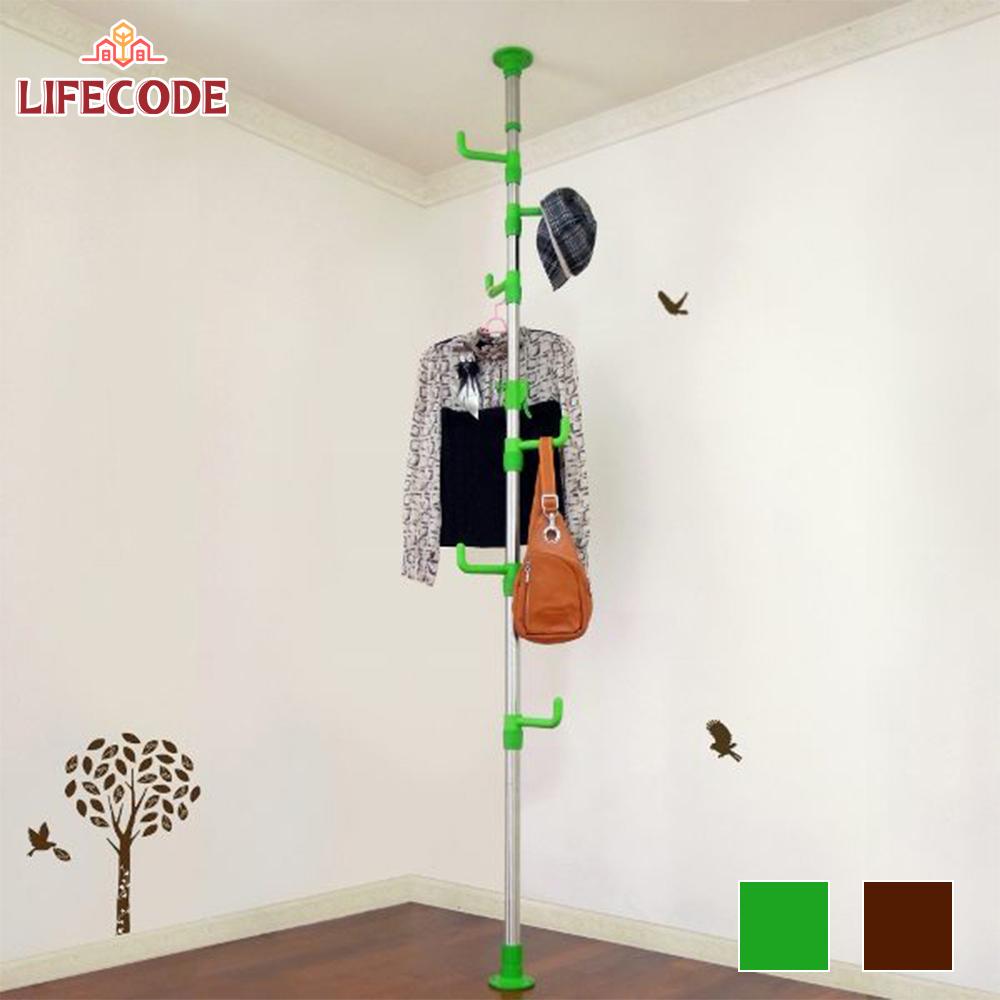 【LIFECODE】春樹頂天立地多用途衣帽架 (2色可選)