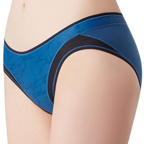 【思薇爾】K.K Fit系列M-XXL素面低腰三角內褲(瓷器藍)