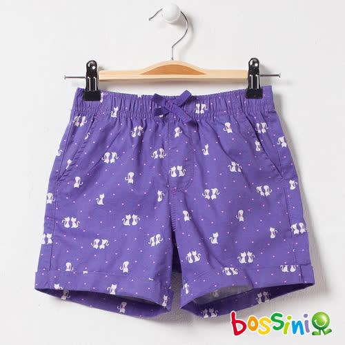 bossini女童-印花輕便短褲03紫