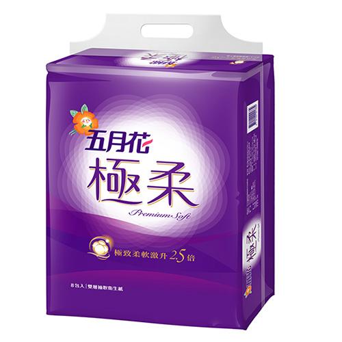【五月花】極柔頂級抽取衛生紙(110抽x8包x6串)/箱