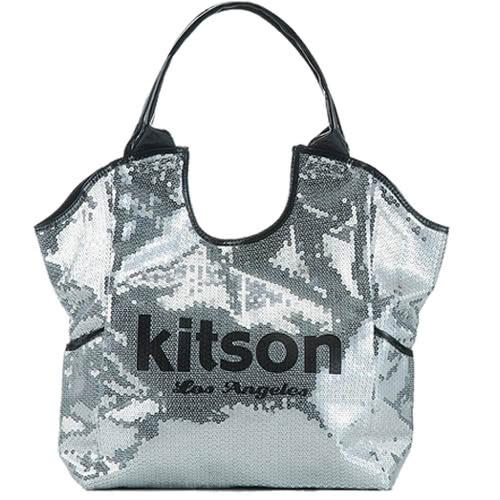 Kitson  雙色亮片托特包 SILVER / BLACK