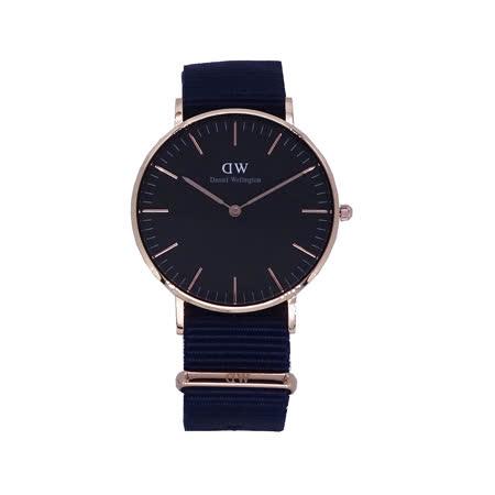 Daniel Wellington  時尚優質藍帆布腕錶