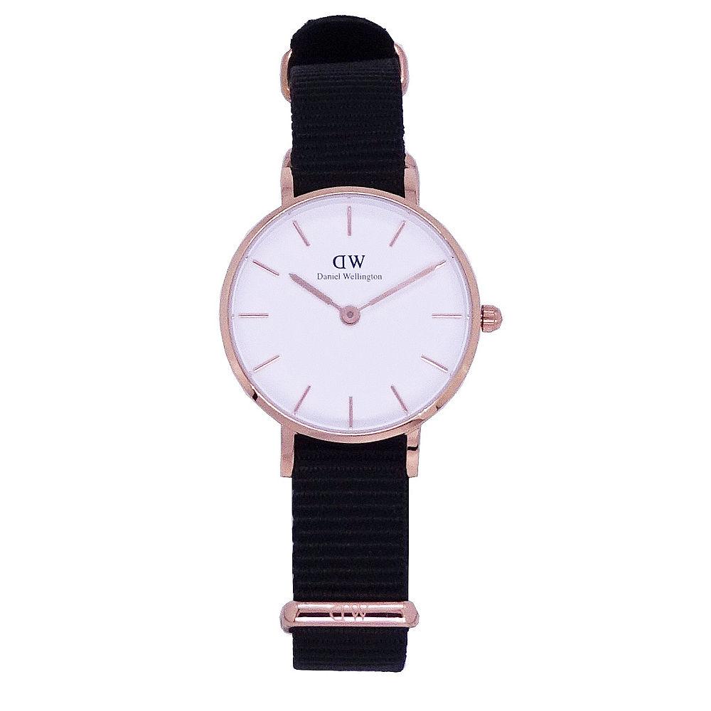 DW Daniel Wellington 經典中的珍貴收藏時尚優質尼龍帶腕錶-白金/28mm-DW00100251