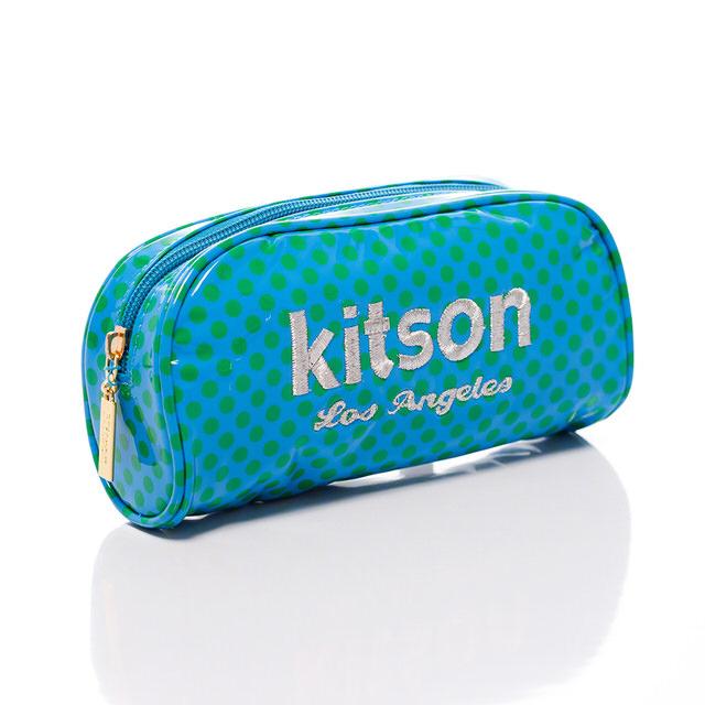 Kitson 刺繡LOGO點點化妝收納包 GREEN